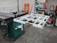"""Review: HTC 37"""" x 31"""" Folding Roller Outfeed Table for ..."""