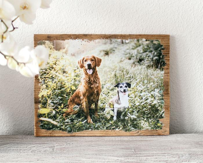 Fotogeschenk  Dein Foto auf Holz  LumberPrint