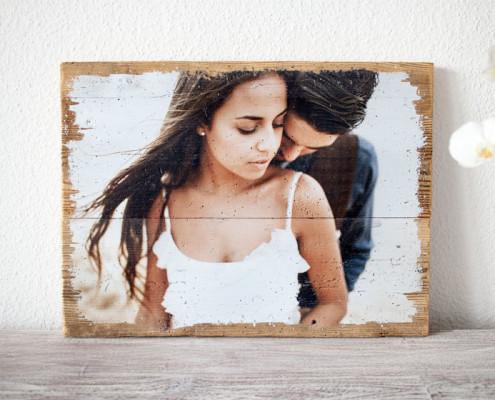 Vintageholz  LumberPrint  Dein Foto auf Holz  Holzdruck