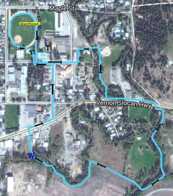 3km Prescription for Health Walk Roll Run route