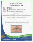 Eye Health Presentation – August 28, 2018