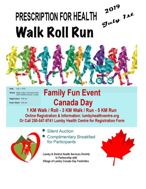 2019 Walk, Roll and Run poster