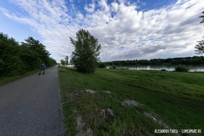 Pista de biciclete de lângă Dunăre