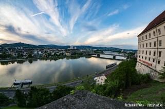 Dunărea în Linz văzută de la cetate
