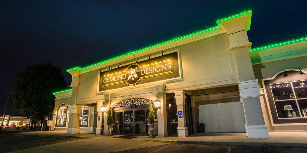 commercial exterior led building