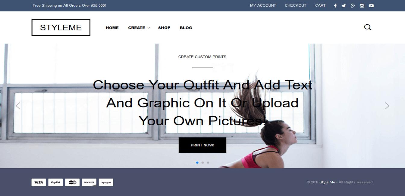 web design for styleMe