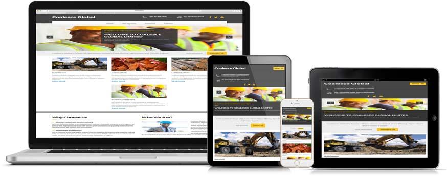 web design and web development project for Coalesce Global ltd