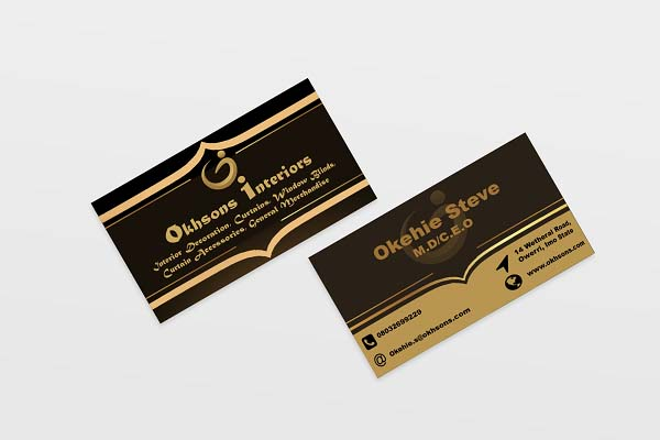 Business Card and Corporate branding Identity Creation for Okhsons