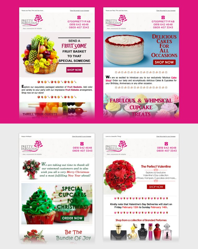 e-mail marketing template