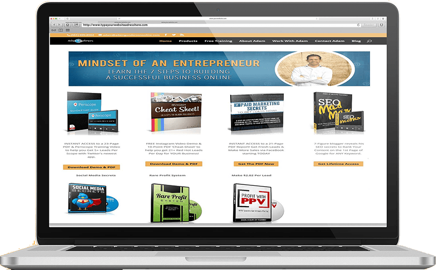 website design for adam gunderson online in owerri