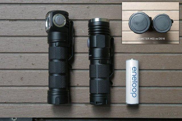 skilhunt h03 vs skilhunt ds16 vs sanyo eneloop battery