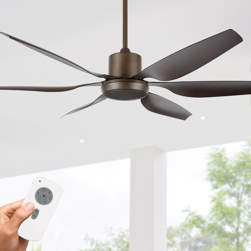 Aviator Ceiling Fan DC Motor 66 with Remote Old Rubbed