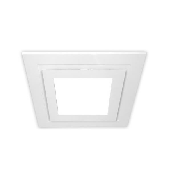 ventair airbus low profile exhaust fan with led light square 200mm white