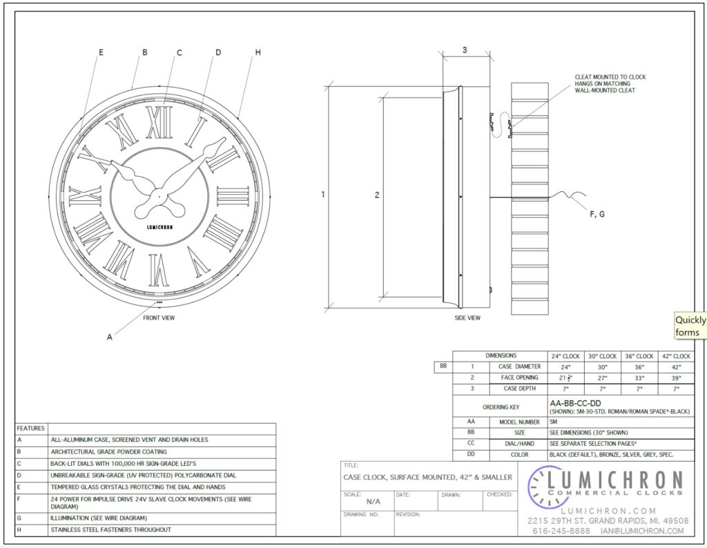 hight resolution of wall clock wiring diagram manual e book drawings lumichron clock companycase clock drawing canister clock