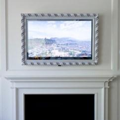 Hiding Tv In Living Room Interior Color Design For Vanishing Mirror | Lumidesign