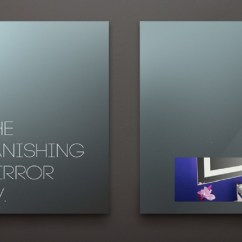 Hiding Tv In Living Room Suites Furniture Framed Vanishing Mirror – Lumidesign