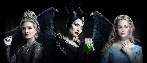 Michelle Pfeiffer, Angelina Jolie & Elle Fanning in Maleficent 2