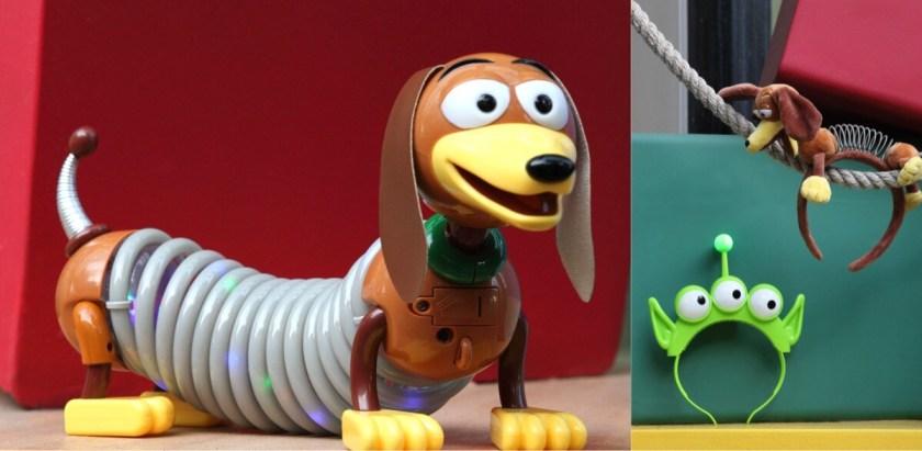 Recuerdos de Toy Story, bandas para la cabeza de Aliens y perro Slinky iluminado