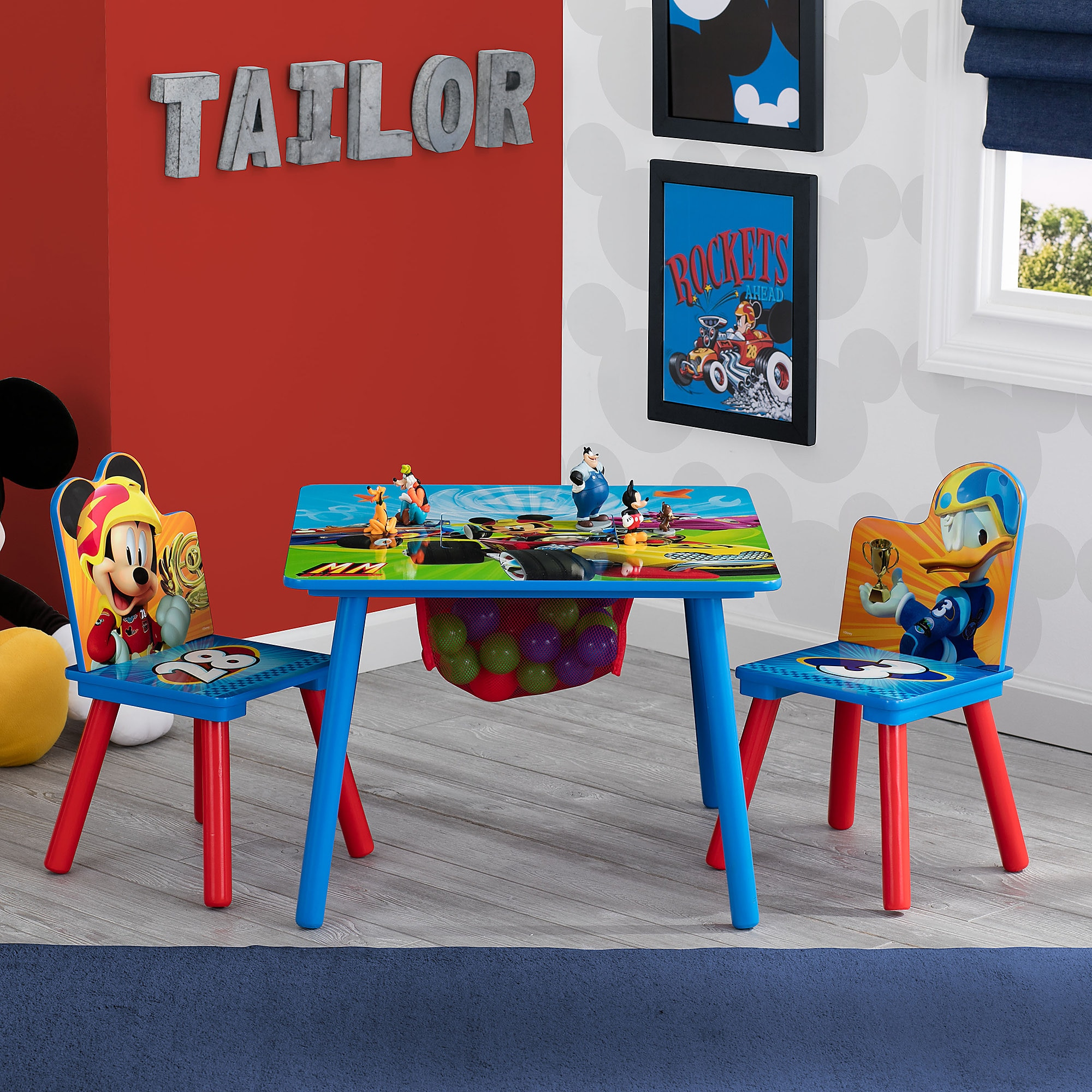 mickey mouse clubhouse table and chair set sitting for baby disney store limited edition