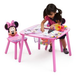 Minnie Table And Chairs Tufted Leather Wingback Chair Mouse Set With Storage Shopdisney