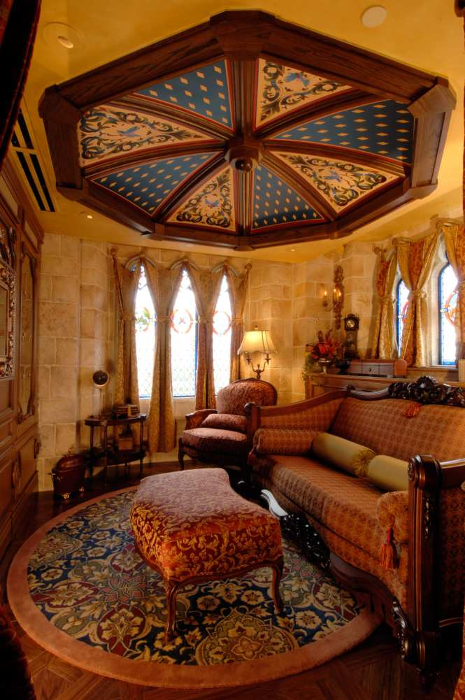 The Sitting Room Inside Cinderella Castle Suite Is Ancd By A Custom Sofa Bed