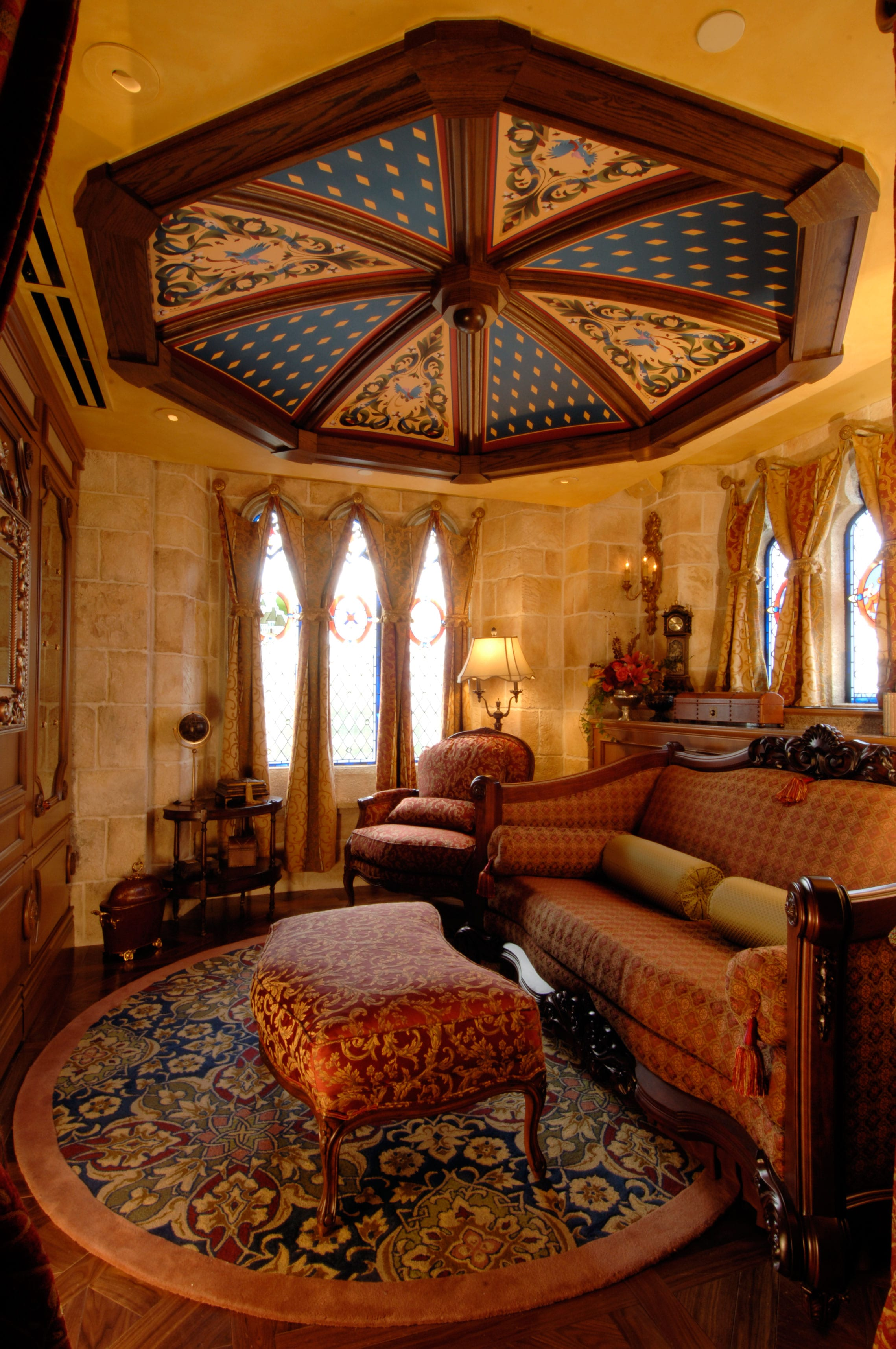 disney dream sofa bed wooden set designs in india cinderella castle gallery parks the sitting room inside suite is anchored by a custom