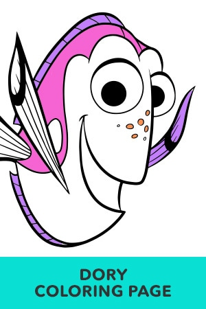 Dory Coloring Pages : coloring, pages, Finding, Coloring, Pages, Disney
