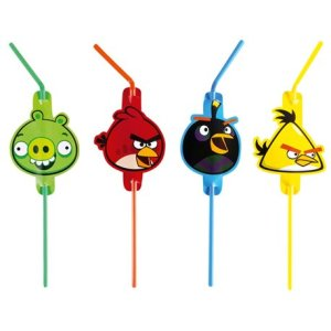 Sugerør med Angry Birds