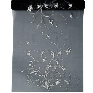 Organza med sølvprint