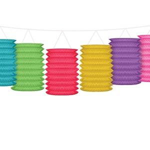 Guirlande lanterne i farver
