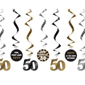 50 år swirls