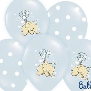 Balloner med elefanter og prikker