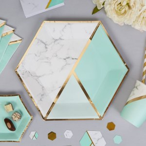 Stor tallerken marmor