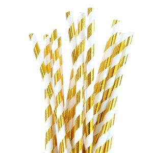 Guldfarvede sugerør
