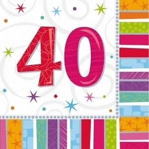 Servietter 40 år