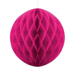 Dark pink papirkugle