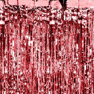 Rød fest gardin