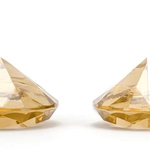 Guldfarvede diamanter kortholdere