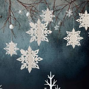 Hvide snefnug