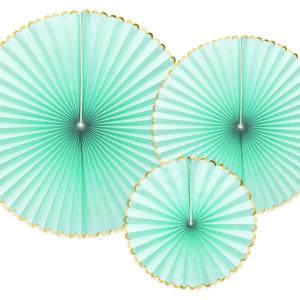 Mint rosetter med guldkant
