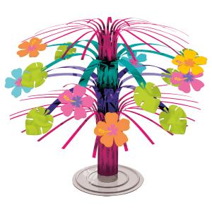 Mini cascade borddekoration med hibiscus blomster
