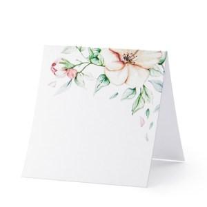 Bordkort med blomster