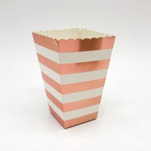 Rosaguld popcorn box