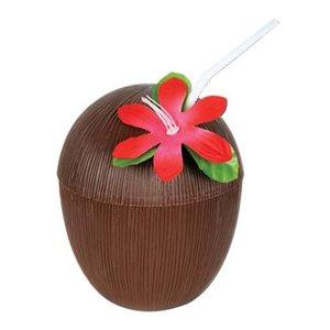 kokosnød plastikkop