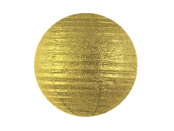 Guld rispapirlampe med glimmer