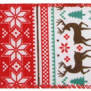 Bånd med retro julemotiv