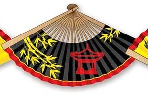 Kinesisk streamer med vifter