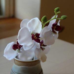 Kunstige orkideer på gren