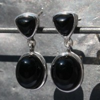 Onyx Earrings Studs | Lumina Jewellery