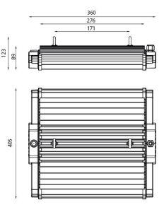 Pantalla LED Industrial H-LUM 198 LED 75W cotas